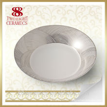 wholesale ceramic wedding plate, hotel used dinner plates